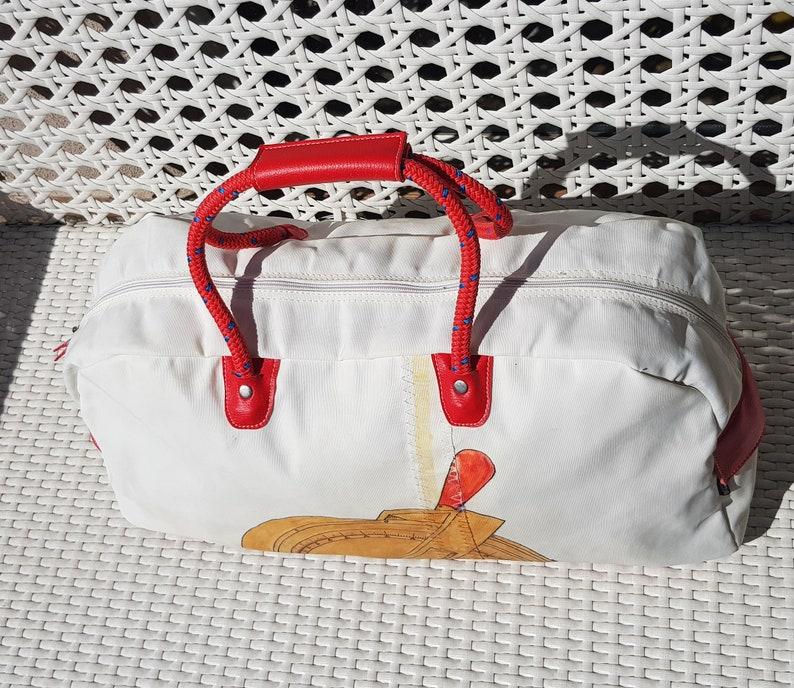 Waterproof Sailcloth  Painted HandBag