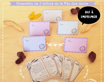 The Tooth Fairy correspondence kit, 5 letters and envelopes to slip under the pillow