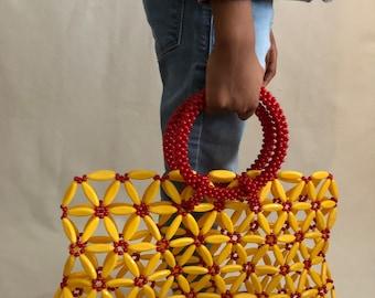 303cb246ac53 African top grab beaded bag