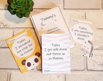 Alternative baby milestone cards set of 23,