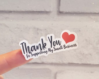 30 thankyou for supporting my small business sticky Labels, business stickers, postage labels ,