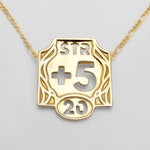 Personalized Ability Score Pendant (Single Charm) | DnD Necklace – Dungeons and Dragons Jewelry – Tabletop RPG – Character Sheet