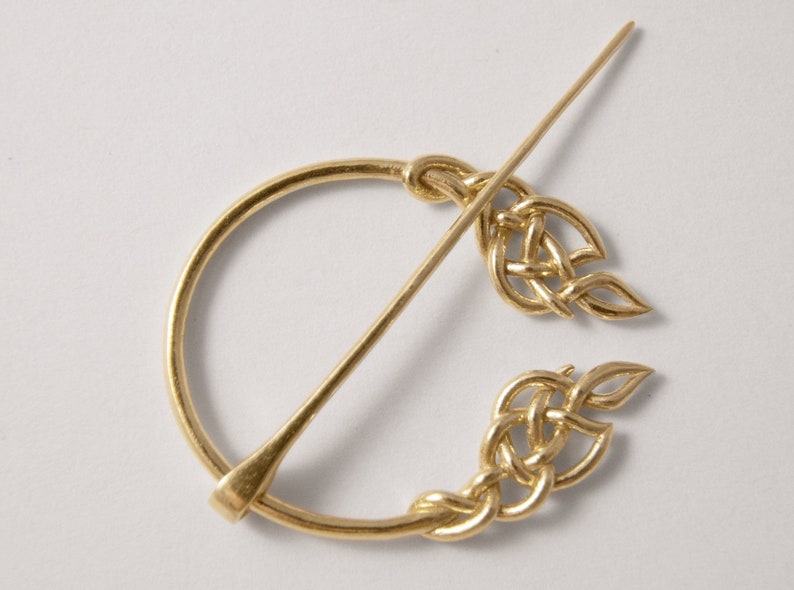 Modern Celtic Penannular Brooch  3D Printed Celtic Brooch  image 0