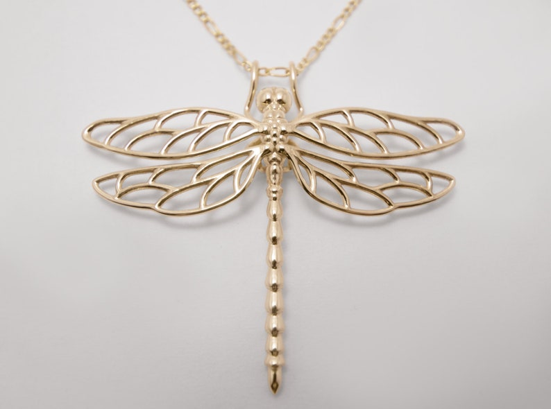Dragonfly Pendant  3D Printed Dragonfly Necklace  Dragonfly image 0