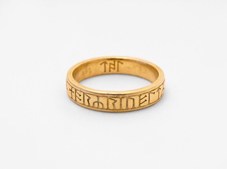 Saxon Runic Ring  3D Printed Old English Ring  Kingmoor Ring image 0