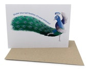 Peacock Birthday Card - S...