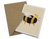 Little Bee Card - Blank G...