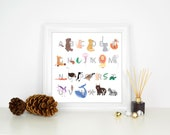 Animal Alphabet Print Nur...