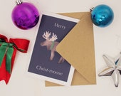 Moose Christmas Card Pun ...
