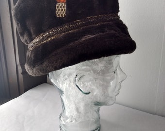 6f69828238c Vintage Marshall Field   Company Men s Faux Fur Winter Fedora-Style Hat