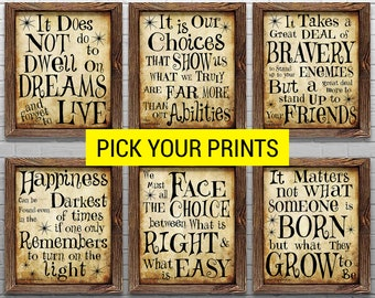 image about Harry Potter Printable Signs named Harry potter decor Etsy