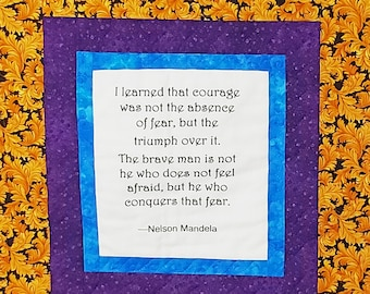 Nelson Mandela, African quilt, handmade African wall hanging, Kwanzaa quilt, Wakanda wall art, Black History quilt