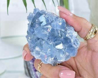 Celestite , Blue Celestite Cluster , Healing Crystals , Crystals For Beginners  , Raw Celestite Cluster , Crystal For Anxiety