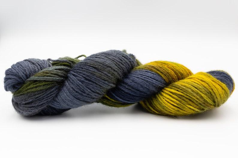 Hand-Dyed Yarn Nuit \u00e9toil\u00e9e DK Weight
