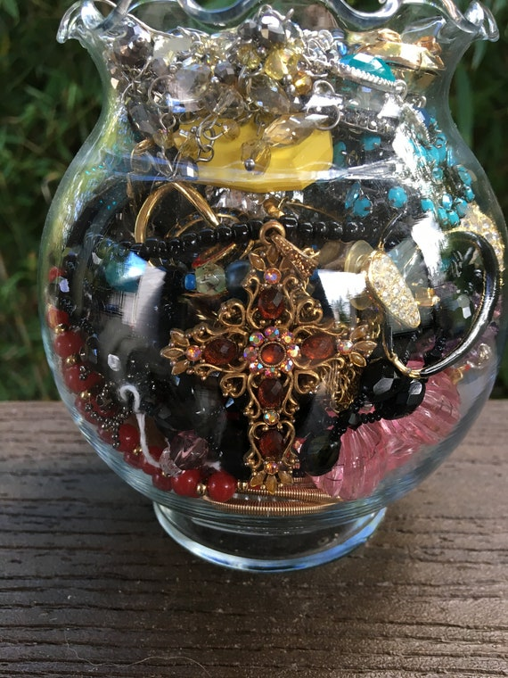 Mystery Jewelry Jar , Mixed Wearable Jewelry