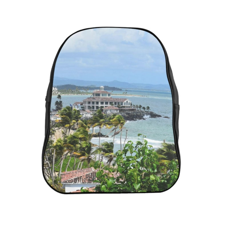 Awesome Rocky Beach in Palmas de Mar Housing complex Puerto Rico School Backpack