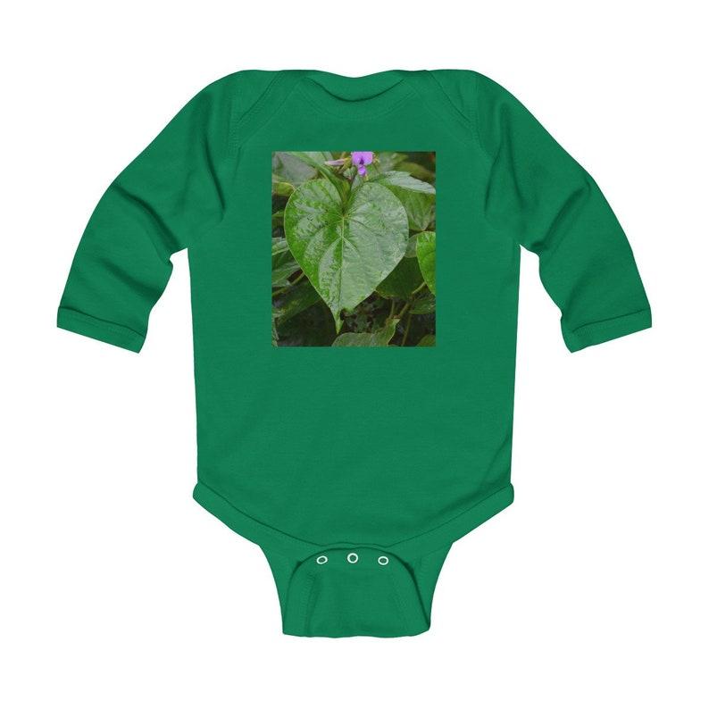Leaves and flowers of El Yunque Rainforest PR Infant Long Sleeve Bodysuit