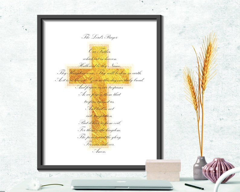 The Lord's Prayer Printable, Bible verse prints, Lords Prayer, Our Father  Printable wall art