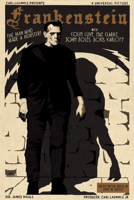 "Frankenstein Boris Karloff  Photo Print 13x19/"""