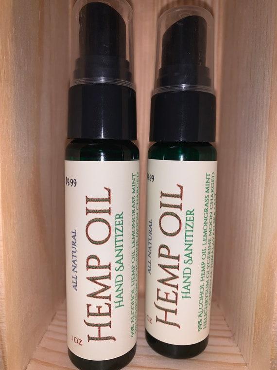Hemp Oil  Antimicrobial Hand Sanitizer lemongrass & Ginger