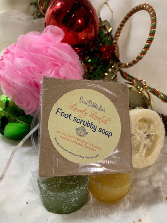Sweet Debbie Lou's Lovely LOOFAH  FOOT scrubby soap  2 pack
