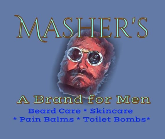 Mashers Bad Ass Beard Butter  and Skincare All Natural Hand Brewed For All Skin Types.