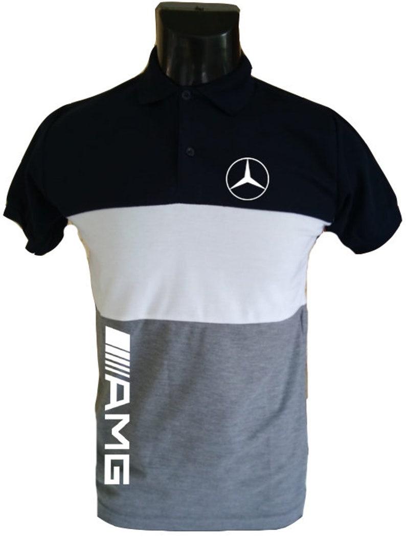 T-Shirt Mercedes-Benz AMG T-shirt Noir Embl/ème Logo Auto Moto Mercedes Benz M