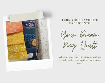 Customer's Fabric Rag Quilt Throw, Custom Rag Quilts, Handmade Throws
