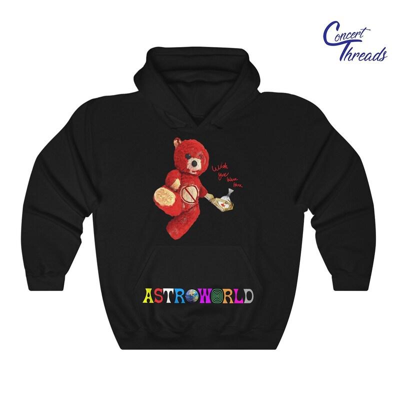 rivenditore di vendita df6e3 89897 Travis Scott 'Astroworld Bear' esclusiva felpa con cappuccio