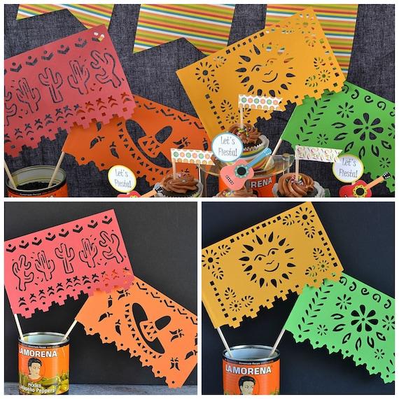 Mini Mexican Flag Centerpiece Fiesta Mexican International Decoration