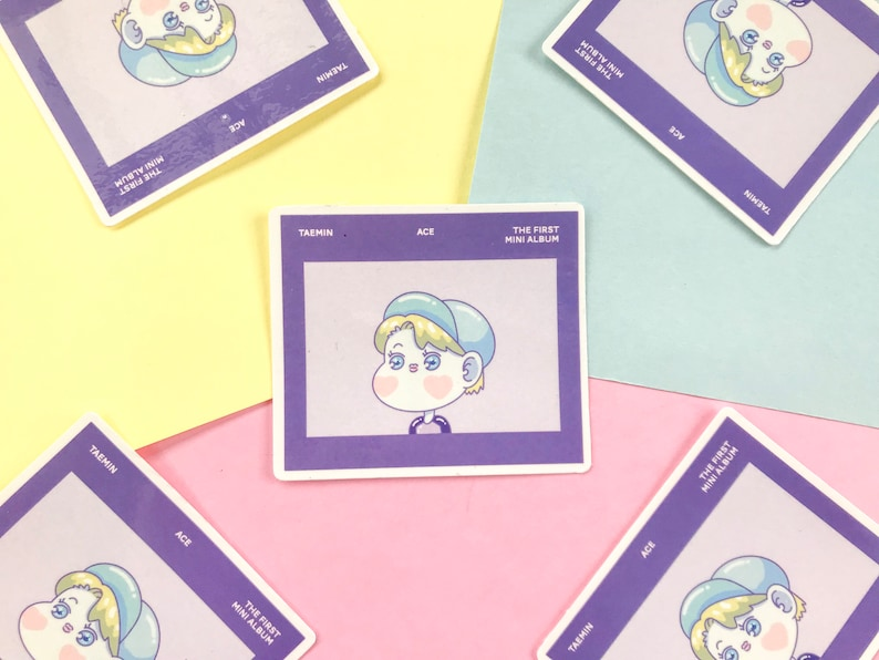 Stickers pack - ACE Taemin album of SHINee / Stickers for Laptop & Notebook