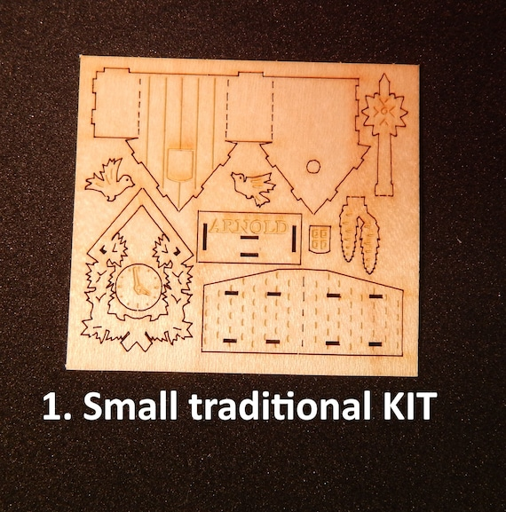 Cuckoo Clocks Kits Diy Inch Scale 1 12 Assembly Required Etsy
