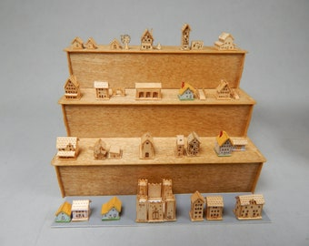 Miniature, 2000 scale KIT, houses, windmill, chapel, castle, barn, do it yourself. decoration, 1/4 inch wide average