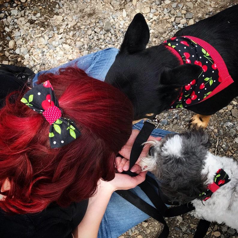 Human Option To Match Your Pet Available! B/&W Buffalo PlaidPurple Bandana