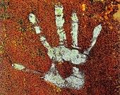 Rusted Door Hand Print...