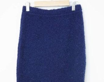 7d702b4c9c9 VTG 80s United Colors of Benetton 1980s Wool Sweater Knit Skirt