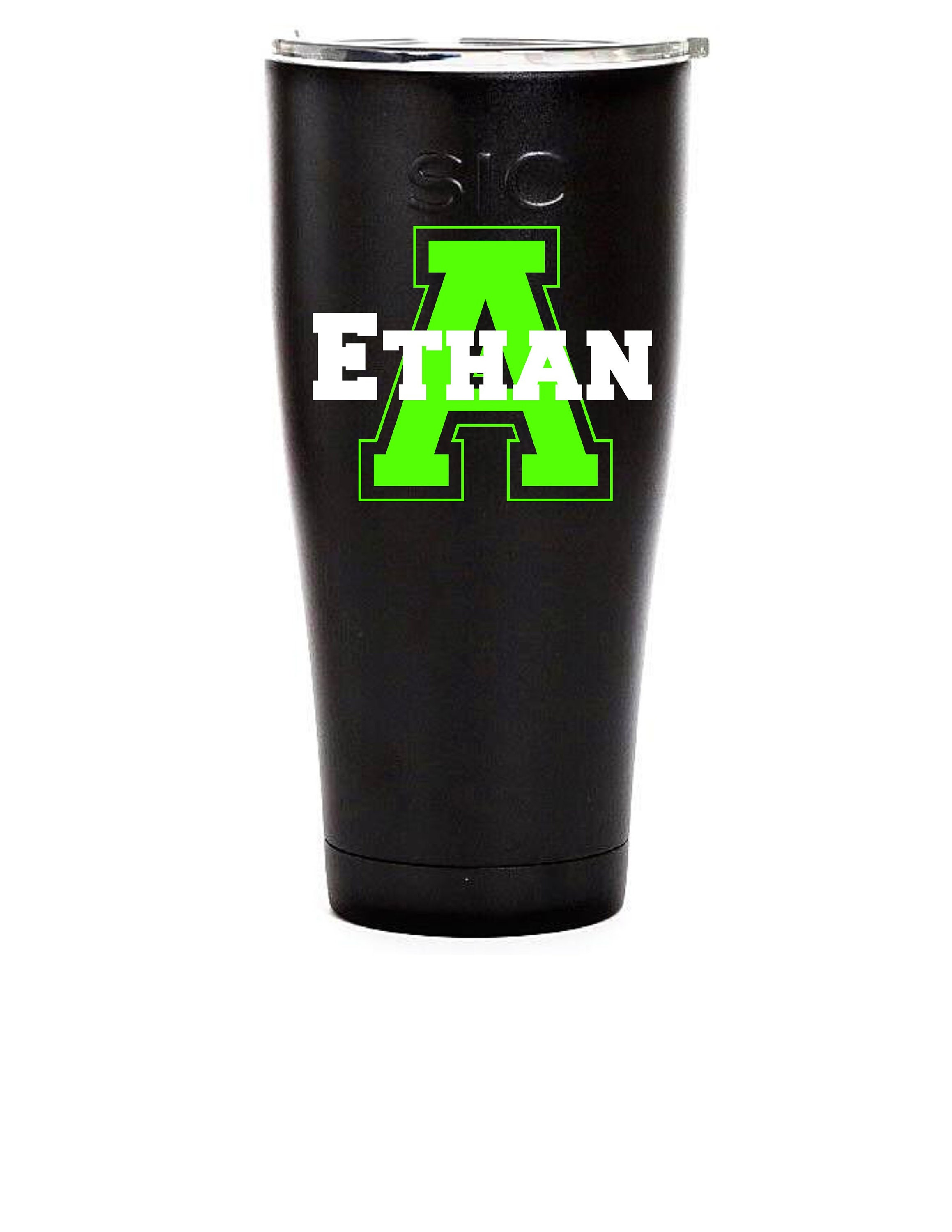 Yeti decal for guy gift for him tumbler decal for men cup decals for men decals for guys decals for him collegiate monogram
