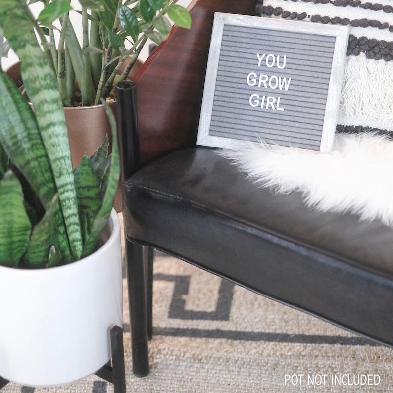 Black Pot NOT Included Metal Indoor Plant Holder Mid Century Plant Stand Modern Design