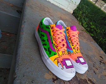 26a763286db5 90s Baby Cartoon Rugrats Chuckie Finster Shoes