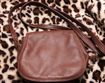 79daea87b415 Etienne Aigner Brown Vintage Leather Crossbody Handbag