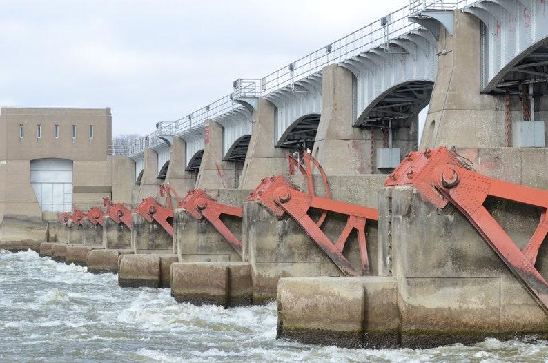 Lock & Dam 14 Mississippi River Quad Cities Wall Art   Etsy