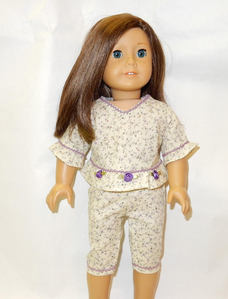 "Purple shorts set 18/"" doll clothing fits American Girl"