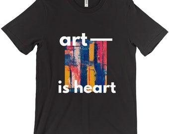 Art Is Heart T Shirt
