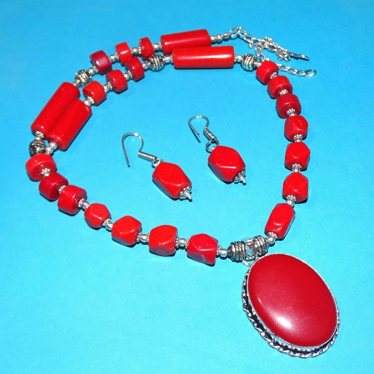 Red Coral Sterling Silver Overlay 4 Grams Earring 1.75 New Arrival Handmade Jewelry