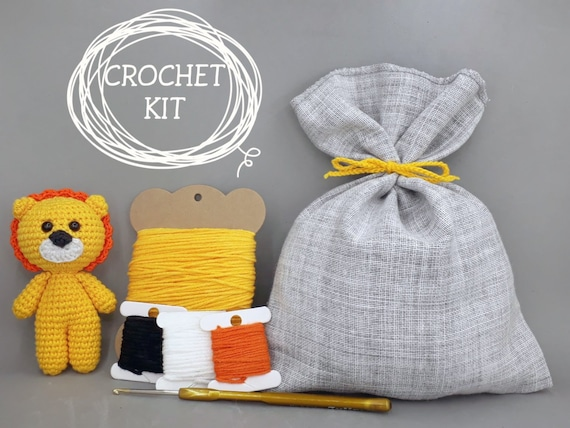 Amazon.com: Amigurumi Crochet Kit,Monkey Kit,Crochet Kit,DIY ... | 428x570