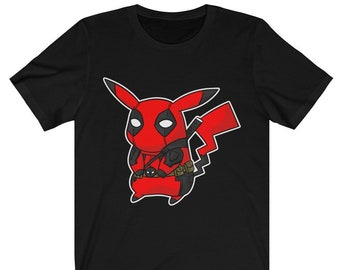 12bd5445 Detective Pikachu Deadpool Shirt, Pikachu Pokemon and Deadpool Pikachu  Pikapool , Pikachu Becomes Deadpool In Detective Pikachu Fan, POKÉMON