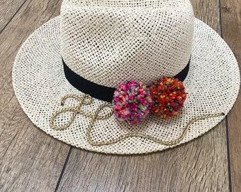 Personalised Ferne Fedora Straw Hat cdb6ea34c97e