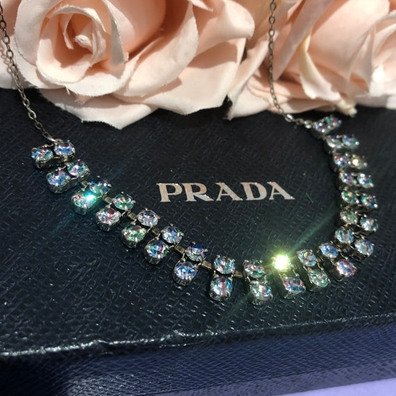 1930s Iris Crystal Rainbow and Diamanté Sparkly Bl
