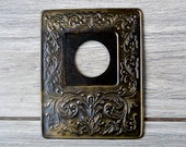Vintage switch plate cover Decorative switch plate Brass wall decor