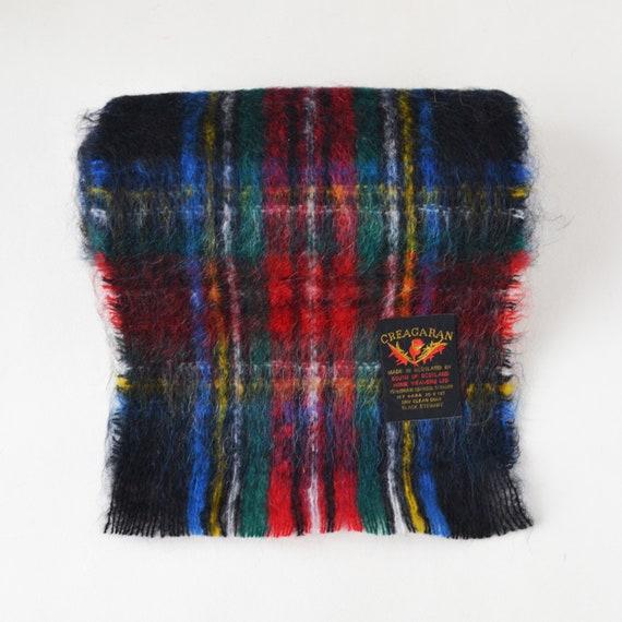 Scottish mohair scarf Vintage plaid mohair scarf … - image 8